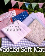 childrens teepee soft wadded papped teepee play floor mats