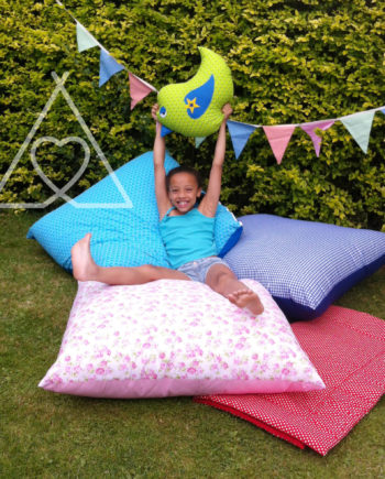 SCATTER CUSHION A 350x435 - Childrens Teepee Jumbo Floor Cushion - 3mm Polka Dot Fabrics