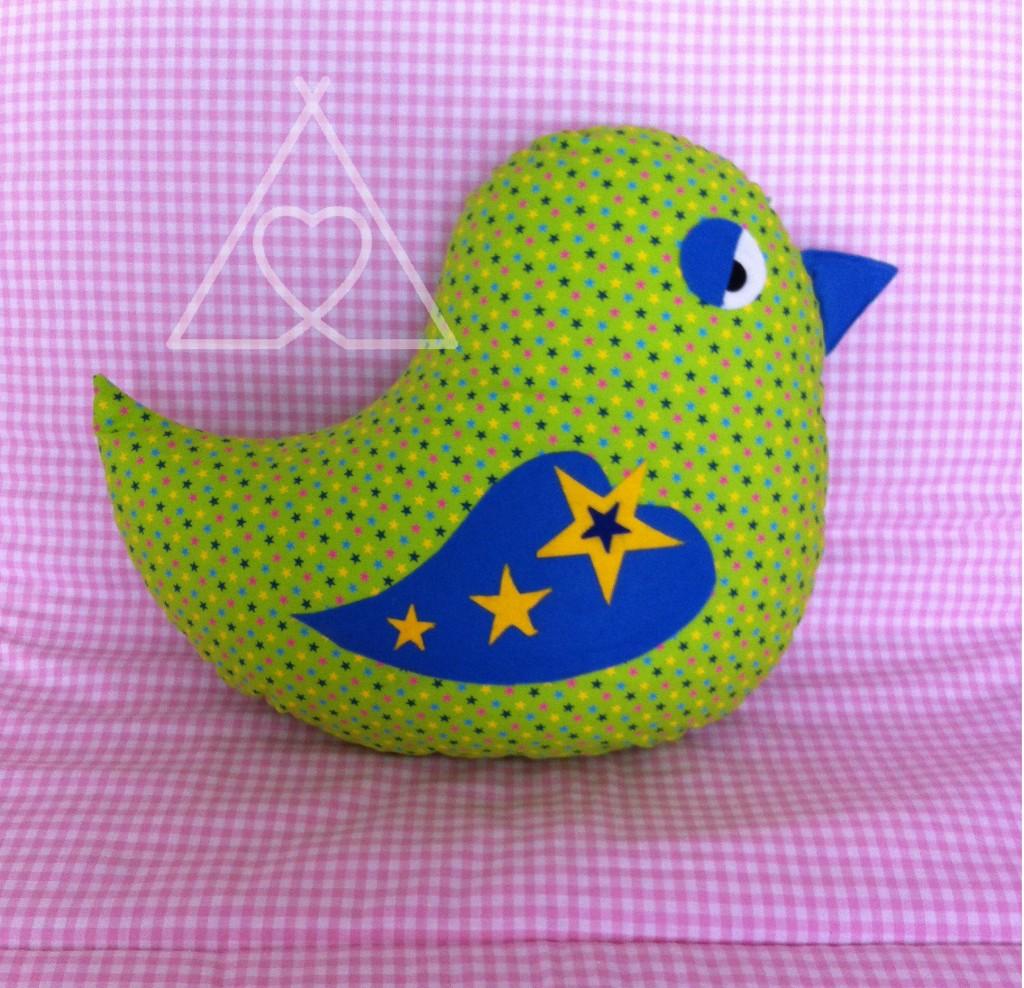 BIRD CUSH B e14385402613251 1024x988 - Childrends Bird Shape Cushion - Assorted Fabrics