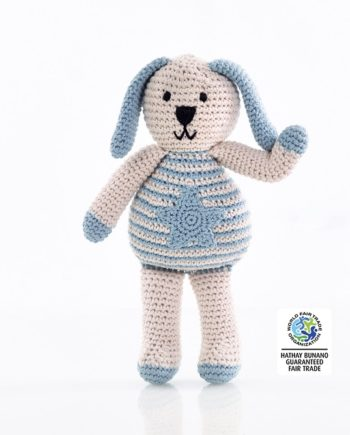 IMG 0888 350x435 - Organic Cotton Knitted Bunny Toy