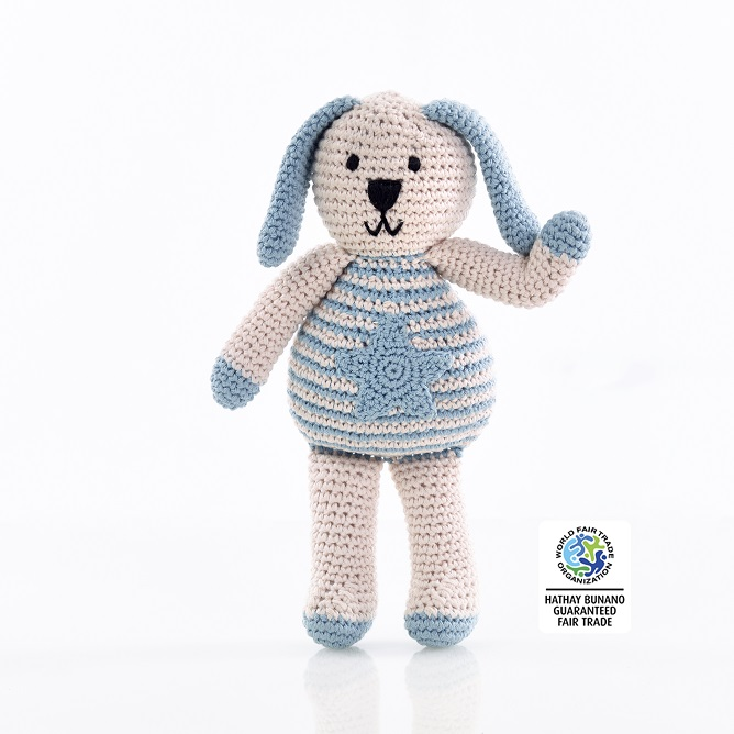 IMG 0888 - Organic Cotton Knitted Bunny Toy