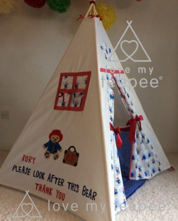 IMG 1829 350x435 - Paddington Bear Appliquéd Teepee - Mat - Cushions