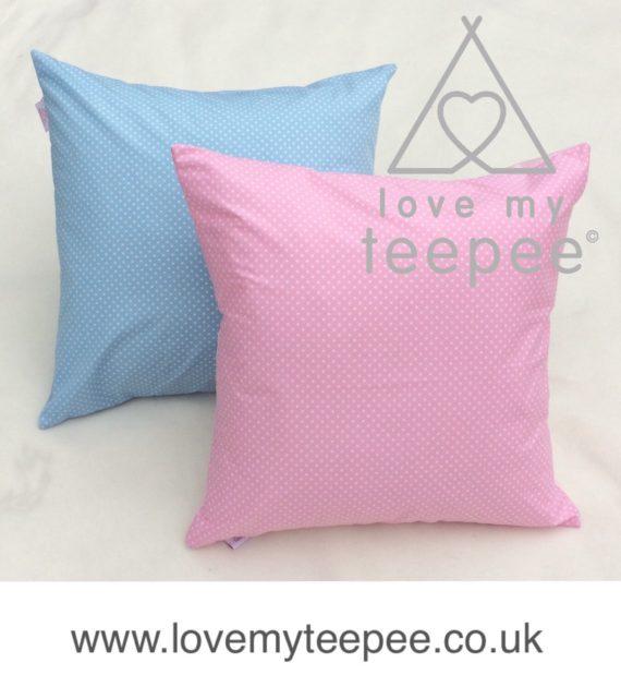 FullSizeRender 41 570x619 - Personalised Childrens Scatter Cushions - 3mm Polka Dot Fabrics