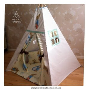 Childrens personalised peter rabbit teepee