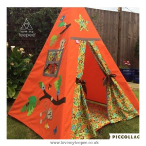 Childrens personalised monkey teepee set