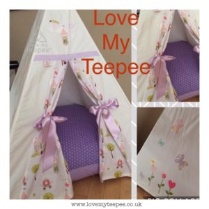 Childrens personalised princess teepee