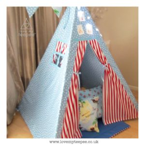 Childrens personalised pirate teepee