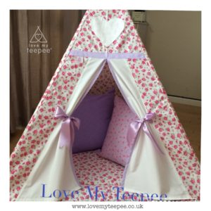Childrens rose teepee