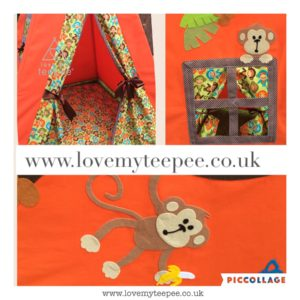 Childrens monkey teepee
