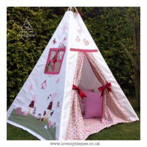 Childrens fairy and toadstools teepee