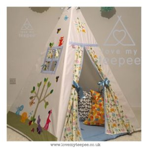 Childrens wild safari animals teepee