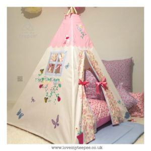 Childrens rose cottage teepee