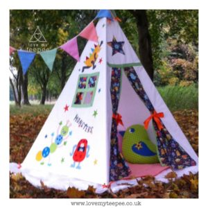 Childrens monster teepee