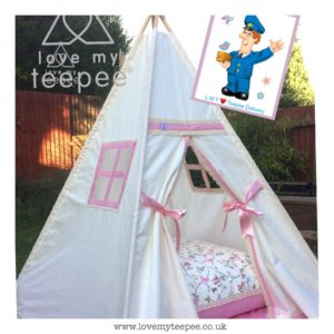 Childrens bird trail teepee set
