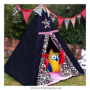Childrens black superhero teepee