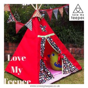 Childrens red superhero teepee