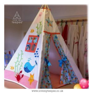 Childrens sea life whale teepee