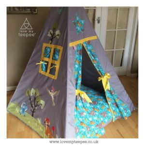 Childrens lion guard teepee with large floor cushion