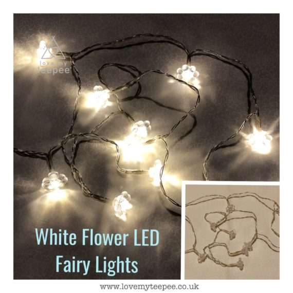IMG 1010 570x570 - Battery Operated White Warm Glow Flower LED Fairy Lights Teepee Topper