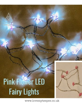 IMG 1011 350x435 - Battery Operated Pink Warm Glow Flower LED Fairy Lights Teepee Topper