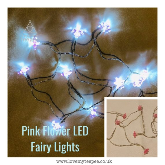 IMG 1011 570x570 - Battery Operated Pink Warm Glow Flower LED Fairy Lights Teepee Topper