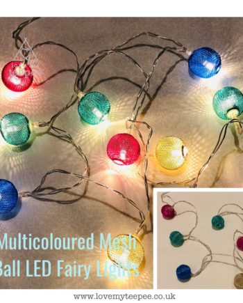 IMG 1013 350x435 - Battery Operated Multicoloured Mesh Balls LED Fairy Lights Teepee Topper