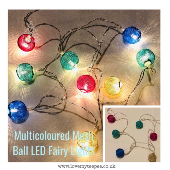 IMG 1013 570x570 - Battery Operated Multicoloured Mesh Balls LED Fairy Lights Teepee Topper