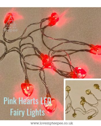 IMG 1015 350x435 - Battery Operated Pink Hearts LED Fairy Lights Teepee Topper