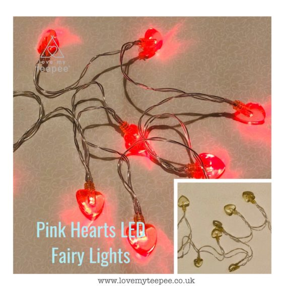 IMG 1015 570x570 - Battery Operated Pink Hearts LED Fairy Lights Teepee Topper