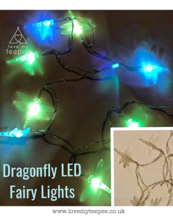 IMG 1017 350x435 - Battery Operated Colour Changing Dragonflies LED Fairy Lights Teepee Topper