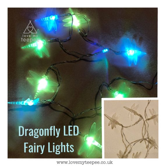 IMG 1017 570x570 - Battery Operated Colour Changing Dragonflies LED Fairy Lights Teepee Topper