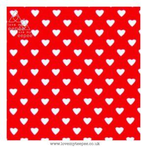 red hearts floor mat