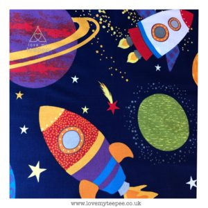 space rockets cushion cover