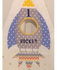 To the moon rocket teepee set