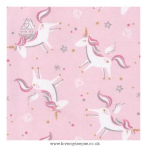 scattered pink unicorn cushion cover