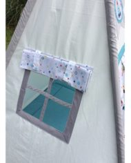Outer space and rockets teepee set window blind