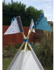 Outer space and rockets teepee set pole flags