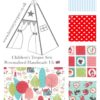 kids teepee tent little red riding hood fabric collection