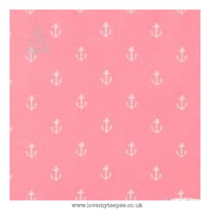 pink anchors floor mat