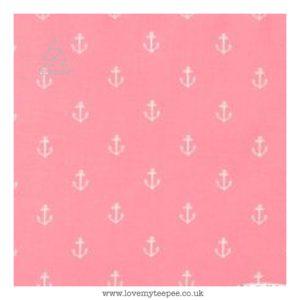 pink anchors floor mat