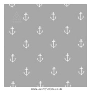 grey anchors cushion cover