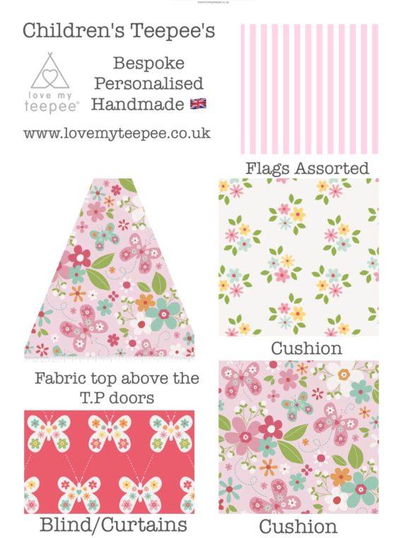 IMG 2747 570x760 - Floral Butterflies (2) Teepee - Mat - Cushions