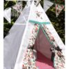 kids nursery knight teepee tent