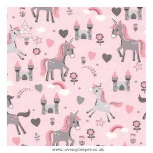 unicorns on pink cushion cover