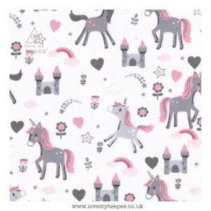 unicorns on white cushion cover