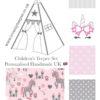 pink unicorn nursery teepee tent