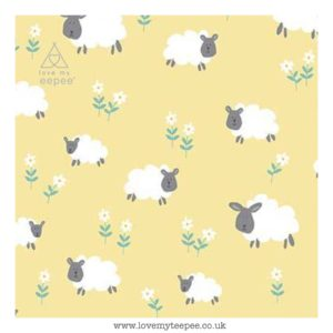 sheep on lemon cushion cover