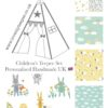bunnies clouds sheep nursery childrens teepee tent
