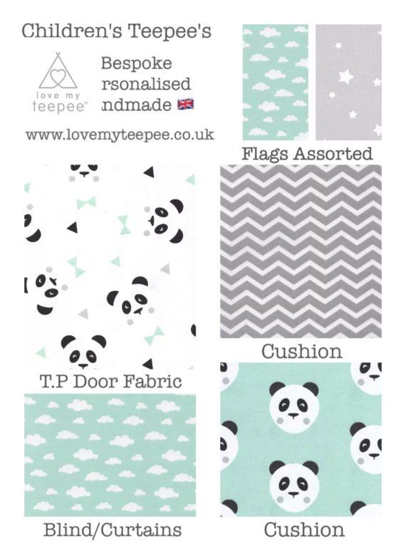 childrens nursery panda teepee