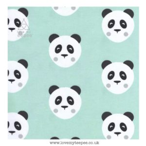 mint green panda cushion cover